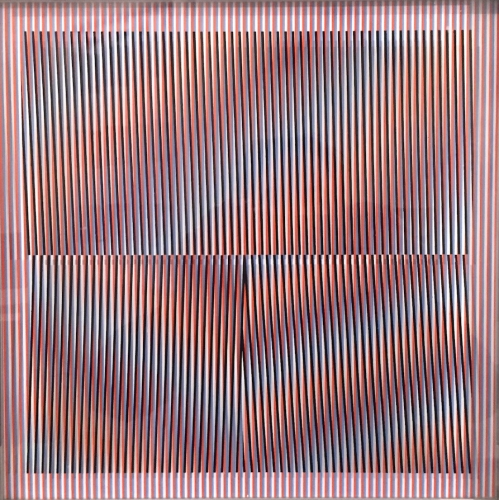"""Cromointerferencia, 1978, Screenprint in Colors, on Plexiglas, H 11.875"""" x W 11.875"""", Signed, Dated and Numbered"""