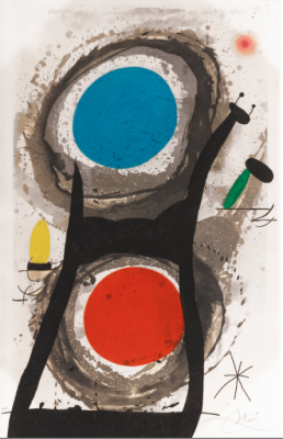 "Joan Miro, 1893 - 1983, L'Adorateur Du Soleil, 1969, Etching, H 41.75"" x W 26.75"", Signed in Pencil Lower Right"