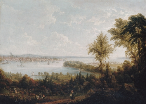 View of the Bay and City of New York from Weehawken, 1840