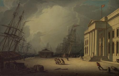 The Custom House at Greenock, Scotland, 1828