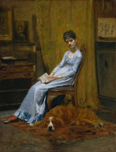 The Artist's Wife and His Setter Dog, ca. 1884–89