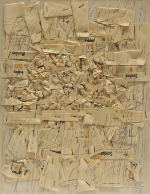 Untitled (Calendar Collage), 1959