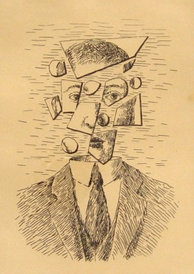 "Rene Magritte, 1898 - 1967, Untitled, from Aube à L'Antipode, 1966, Etching, H 7"" x W 5"", Signed Lower Right - ""Magritte"", Inscribed Lower Left - ""E.A."""