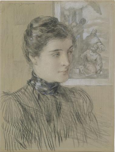 The Veronese Print (Black Chalk and Pastel), ca. 1890