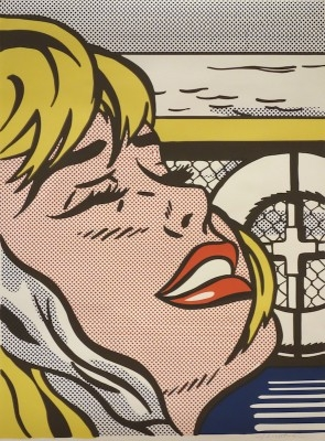 "Roy Lichtenstein, 1923 - 1997, Shipboard Girl, 1965, Offset Lithograph, H 26.125"" x W 19.125"", Signed Lower Right"