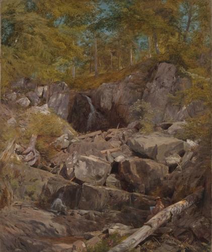 A Study of Trap Rock (Buttermilk Falls), 1863