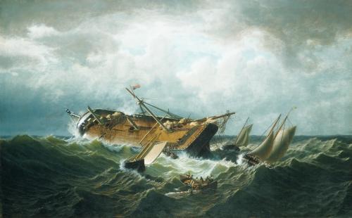 Shipwreck off Nantucket, circa 1860-61