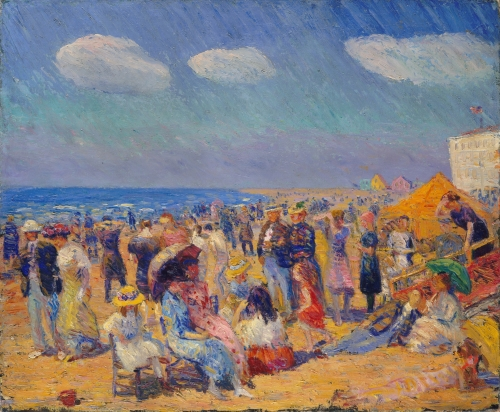 Crowd at the Seashore, ca. 1910