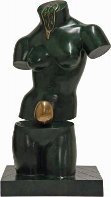 "Space Venus, 1977 / 1984, Bronze, Green Patina, H 25"" x W 13"" x D 14"", Signed 'Dalí' on the Base"