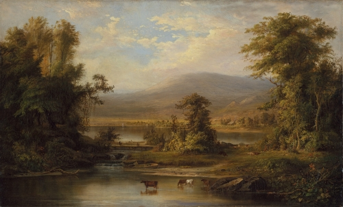 Landscape with Cows Watering in a Stream, 1871