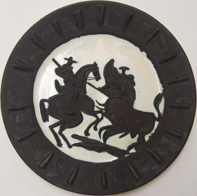"Pablo Picasso, 1881 - 1973, Scène de Tauromachie, 1959, Ceramic, H 16.5"" x W 16.5"", ""MADOURA"" Stamp Verso"