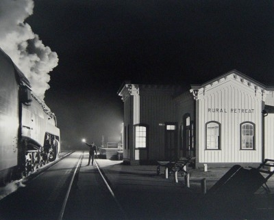 """O Winston Link, 1914 - 2001, Birmingham Special at Rural Retreat, Virginia, 1957, Printed in 2000, Gelatin Silver Print, H 16"""" x W 20"""", Signed and Dated Verso"""