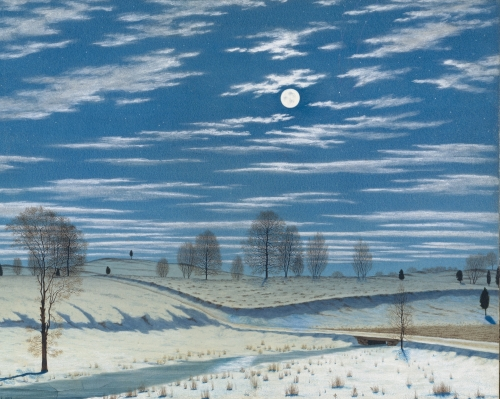 Winter Scene in Moonlight, 1869