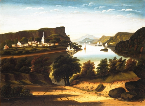 Lake George and the Village of Caldwell, ca. 1850s