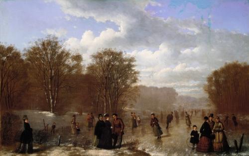 Skating on the Wissahickon, 1875