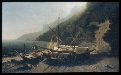 View at Amalfi, Bay of Salerno, 1857