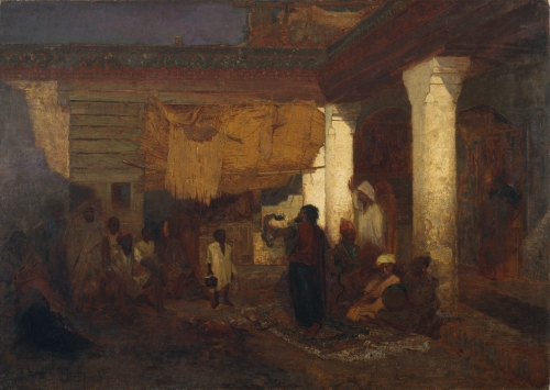 Snake Charmer at Tangier, Africa, 1872