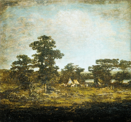 An Indian Encampment, circa 1880-90