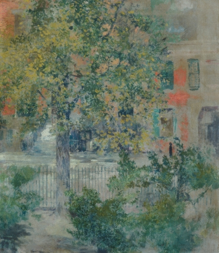 View from the Artist's Window, Grove Street, ca. 1900