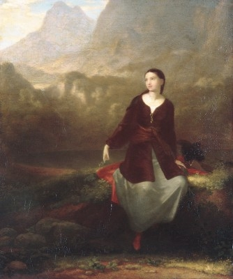 WASHINGTON ALLSTON, The Spanish Girl in Reverie, 1831, Oil painting