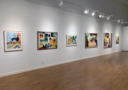 Installation view of June Edmonds Full Spectrum at LMU Laband Art Gallery.