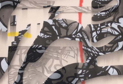 Detail Shot of Jan-Ole Schiemann, Ohne Titel, 2016.