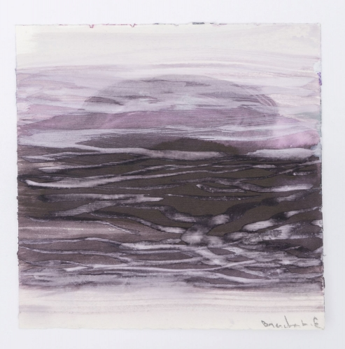 A predominantly purple abstract