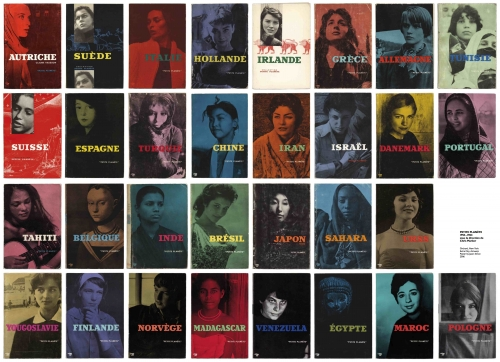 An excerpted image of the Petite Planete poster, containing book covers