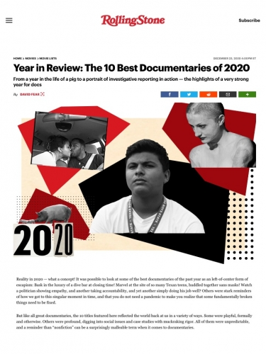 Year in Review: The 10 Best Documentaries of 2020