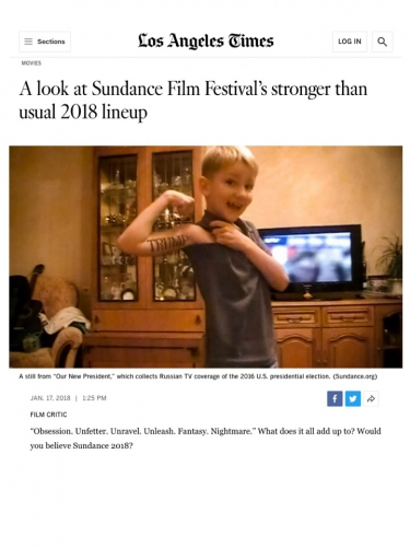 A look at Sundance Film Festival's stronger than usual 2018 lineup