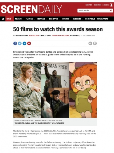 50 films to watch this awards season