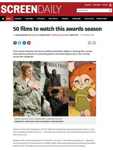 50 films to watch this awards season