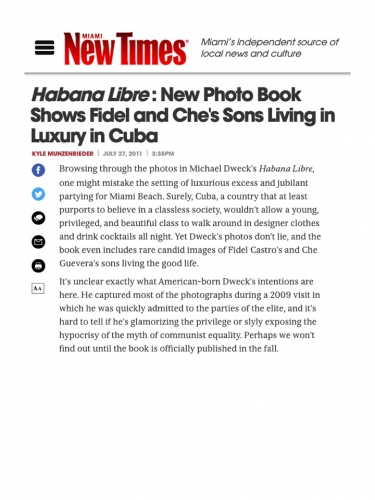 Habana Libre: New Photo Book Shows Fidel and Che's Sons Living in Luxury in Cuba