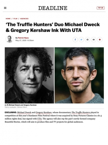 'The Truffle Hunters' Duo Michael Dweck & Gregory Kershaw Ink With UTA