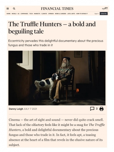 The Truffle Hunters — a bold and beguiling tale