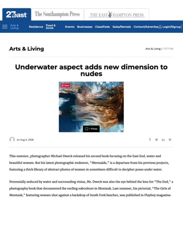 Underwater aspect adds new dimension to nudes