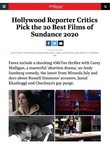 Hollywood Reporter Critics Pick the 20 Best Films of Sundance 2020