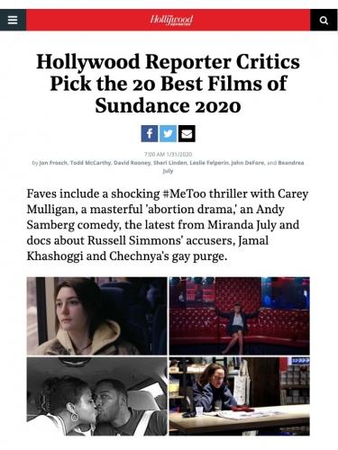 Hollywood Reporter Critics Pick the 20 Best Films of Sundance 2020