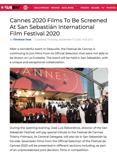 Cannes 2020 Films To Be Screened At San Sebastián International Film Festival 2020