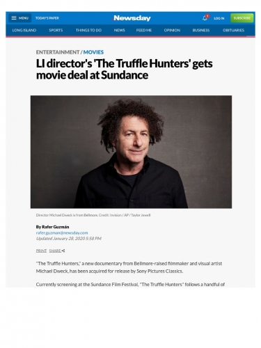LI director's 'The Truffle Hunters' gets movie deal at Sundance