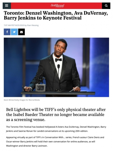 Toronto: Denzel Washington, Ava DuVernay, Barry Jenkins to Keynote Festival