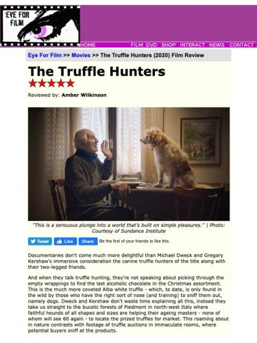 The Truffle Hunters Review *****