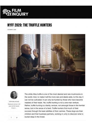 NYFF 2020: The Truffle Hunters