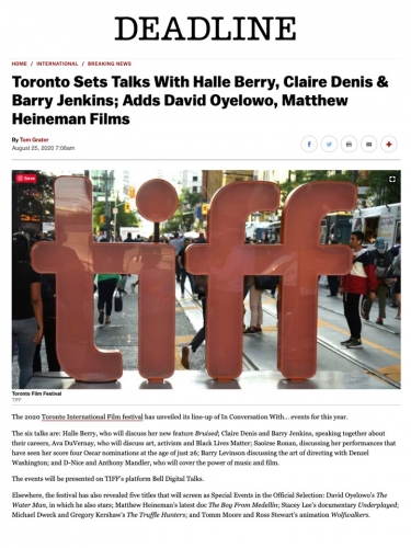 Toronto Sets Talks With Halle Berry, Claire Denis & Barry Jenkins; Adds David Oyelowo, Matthew Heineman Films
