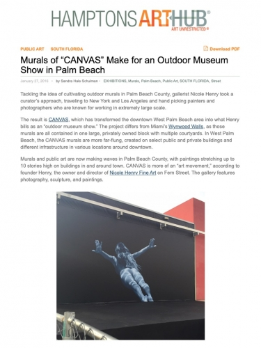 """Murals of """"CANVAS"""" Make for an Outdoor Museum Show in Palm Beach"""