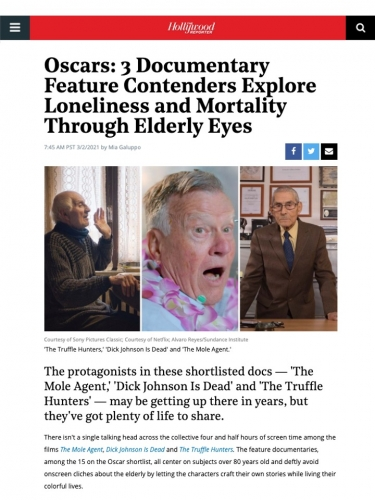 Oscars: 3 Documentary Feature Contenders Explore Loneliness and Mortality Through Elderly Eyes