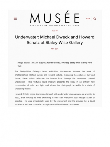 Underwater: Michael Dweck and Howard Schatz at Staley-Wise Gallery
