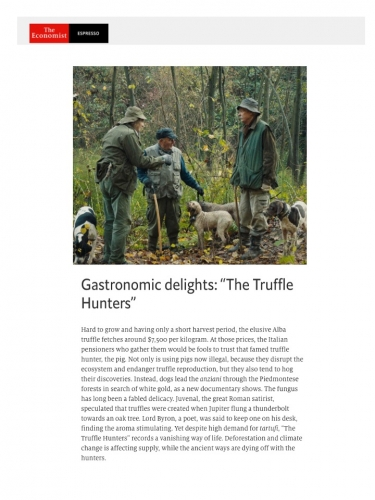 "Gastronomic delights: ""The Truffle Hunters"""