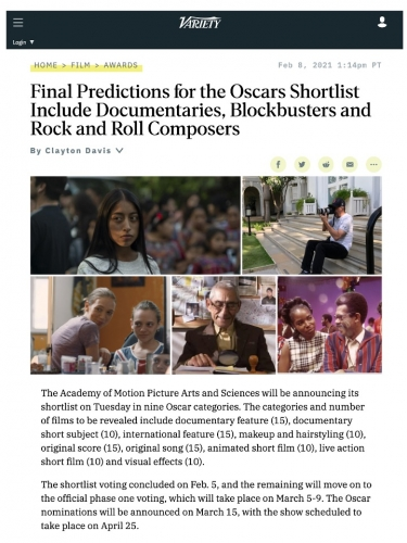 Final Predictions for the Oscars Shortlist Include Documentaries, Blockbusters and Rock and Roll Composers