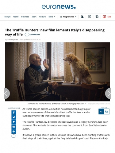 The Truffle Hunters: new film laments Italy's disappearing way of life